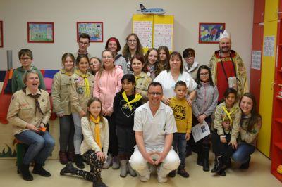 Skauti rozveselili hospitalizované děti ve Vítkovické nemocnici